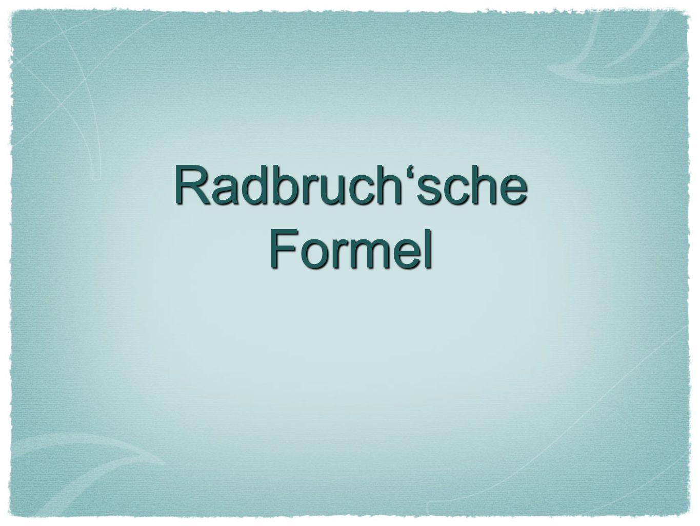Radbruch'sche Formel