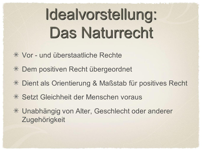 Idealvorstellung: Das Naturrecht