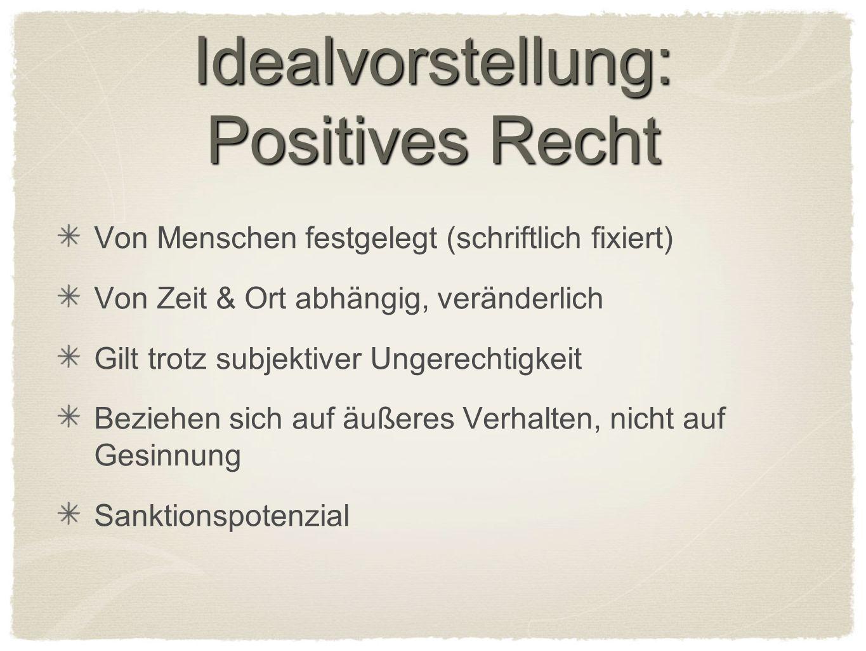 Idealvorstellung: Positives Recht