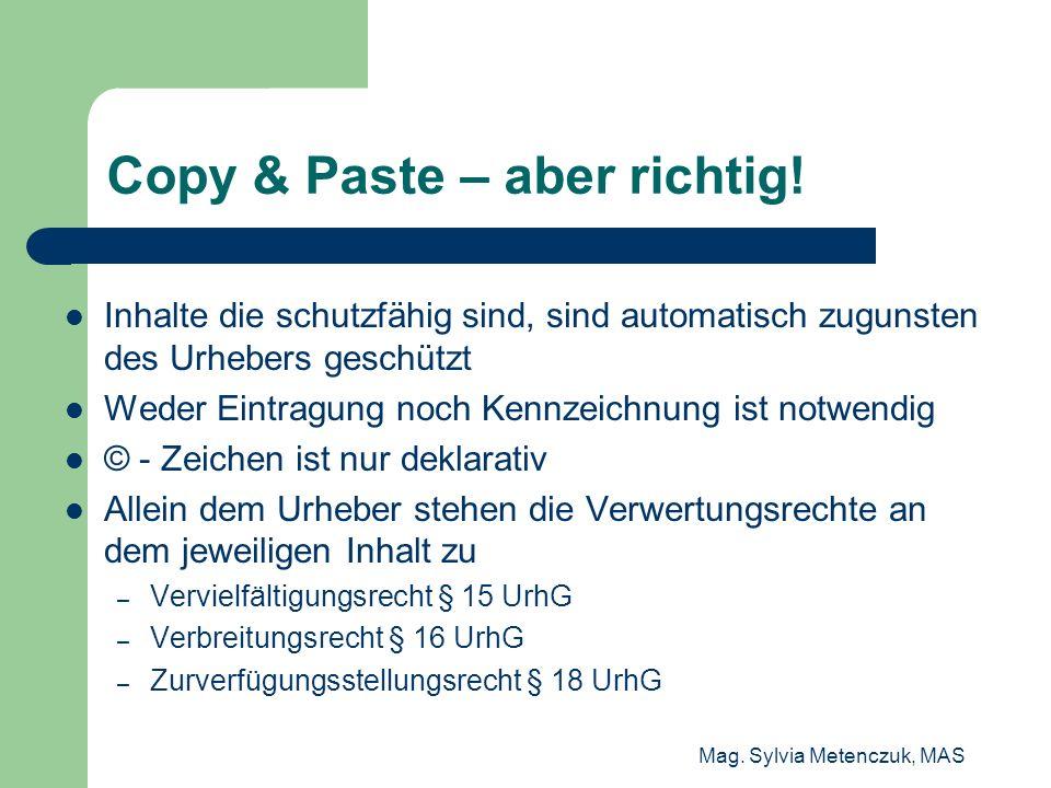 Copy & Paste – aber richtig!