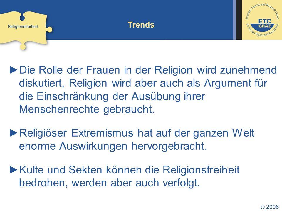 Trends Religionsfreiheit.