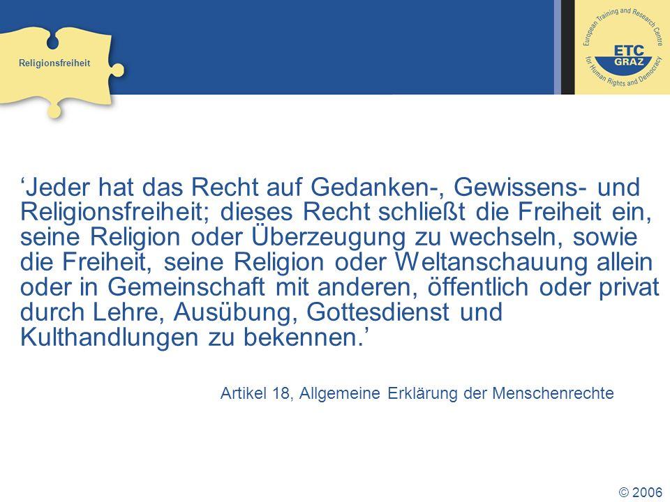 Religionsfreiheit