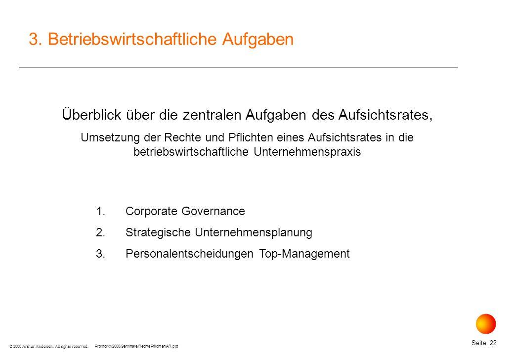 Überblick über die zentralen Aufgaben des Aufsichtsrates,