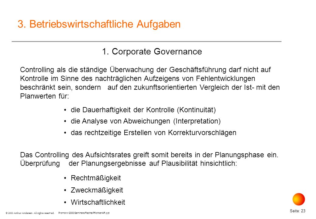 3. Betriebswirtschaftliche Aufgaben