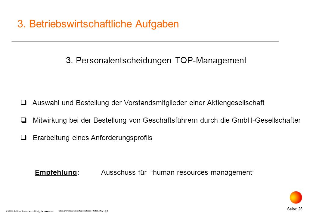 3. Personalentscheidungen TOP-Management