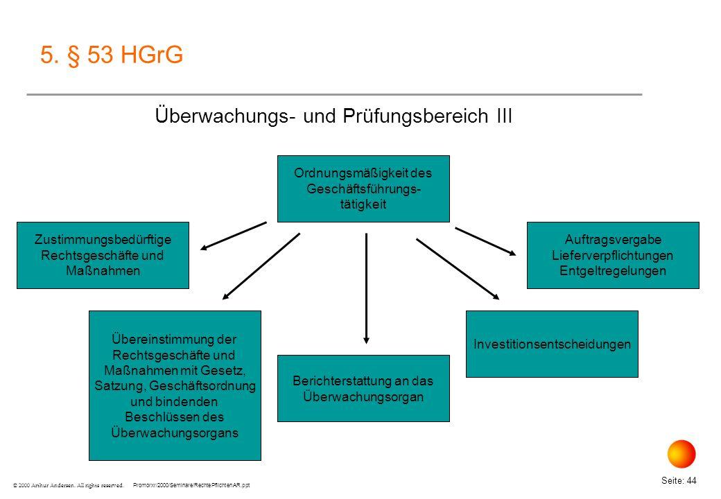 5. § 53 HGrG Überwachungs- und Prüfungsbereich III