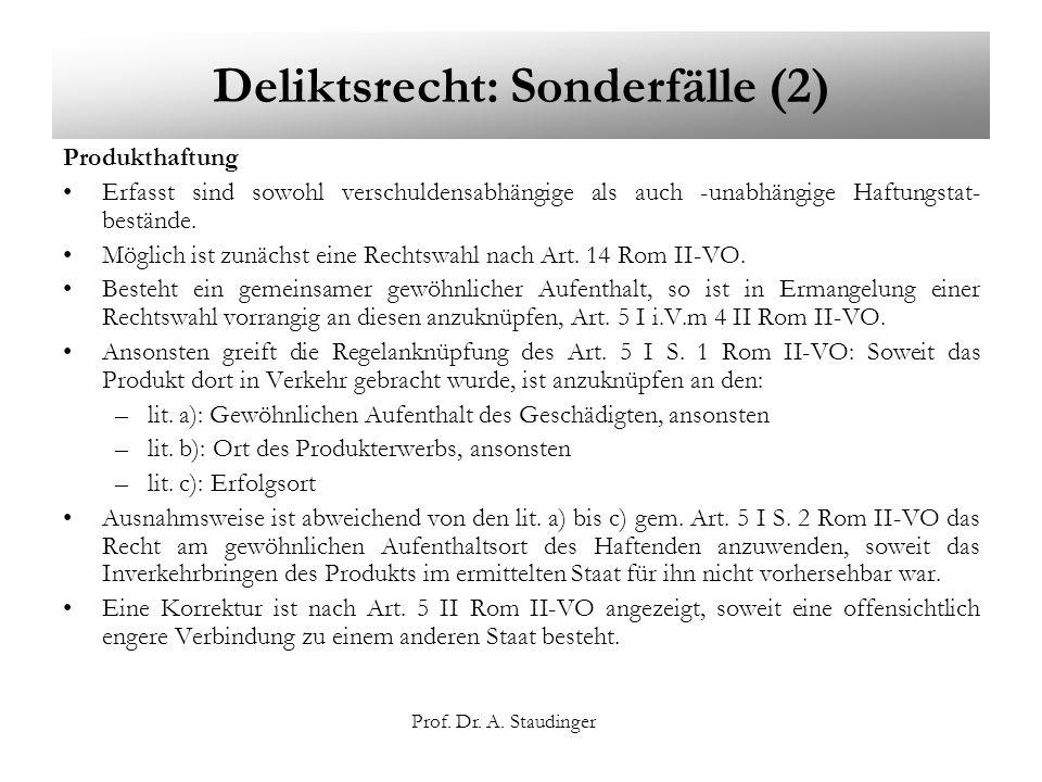 Deliktsrecht: Sonderfälle (2)