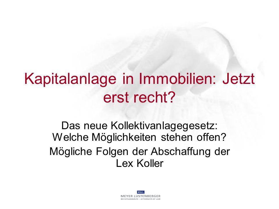 Kapitalanlage in Immobilien: Jetzt erst recht