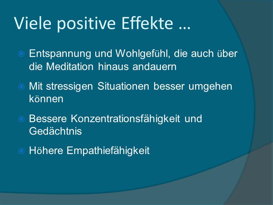 Viele positive Effekte …
