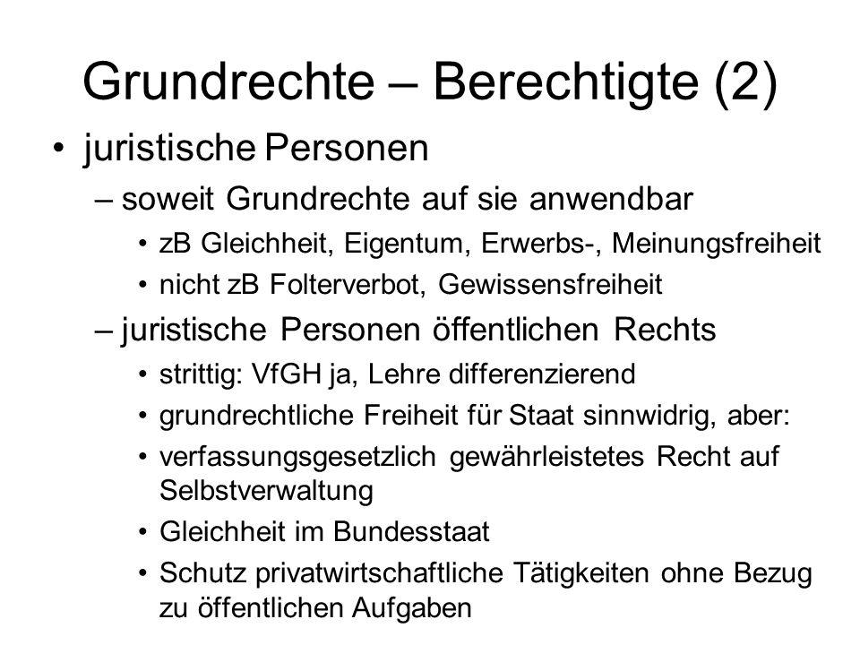 Grundrechte – Berechtigte (2)