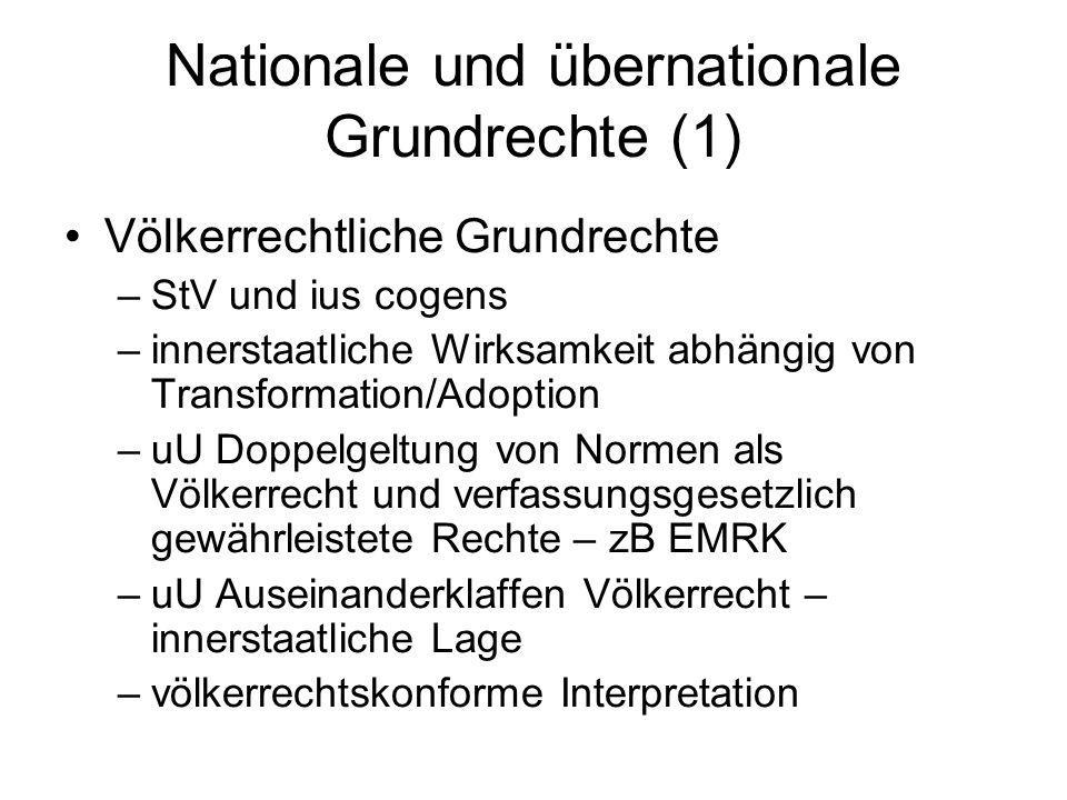 Nationale und übernationale Grundrechte (1)