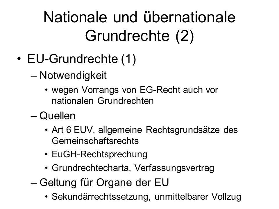 Nationale und übernationale Grundrechte (2)