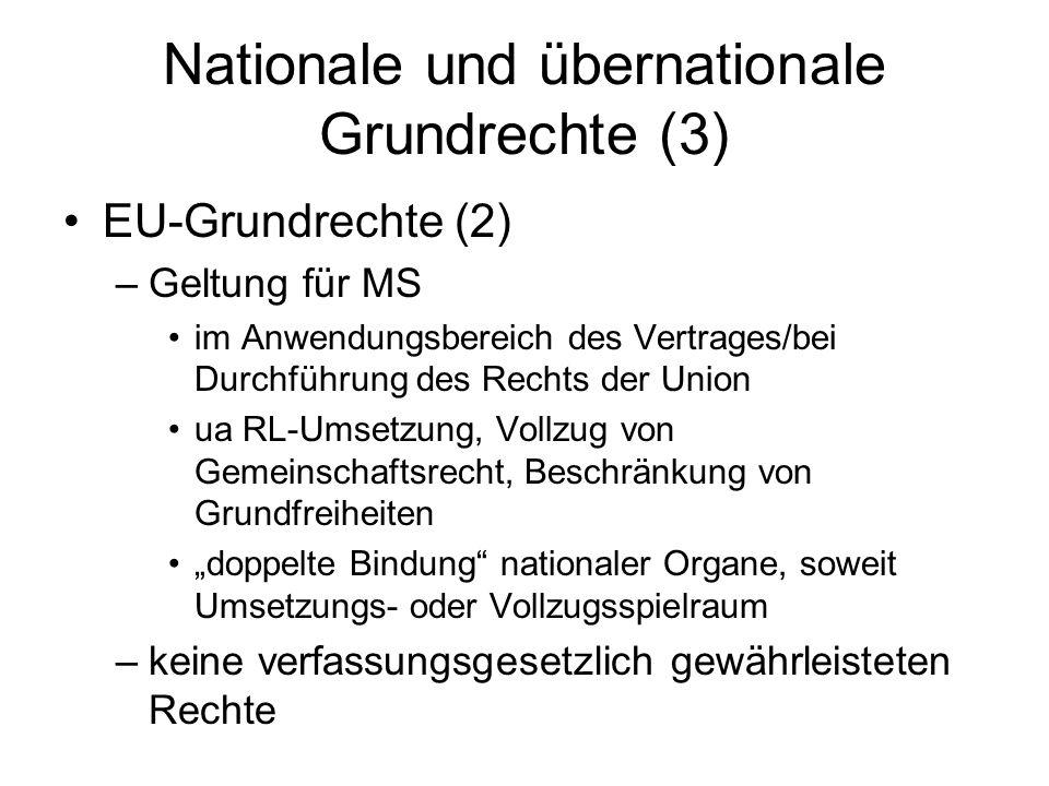Nationale und übernationale Grundrechte (3)