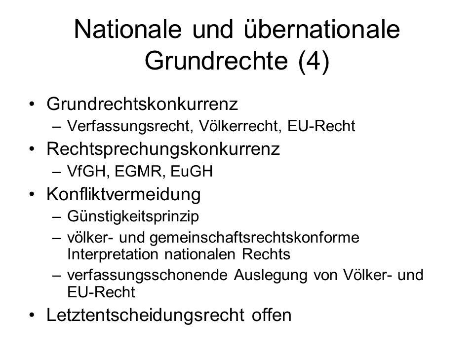 Nationale und übernationale Grundrechte (4)