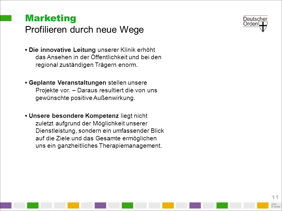 Marketing Profilieren durch neue Wege