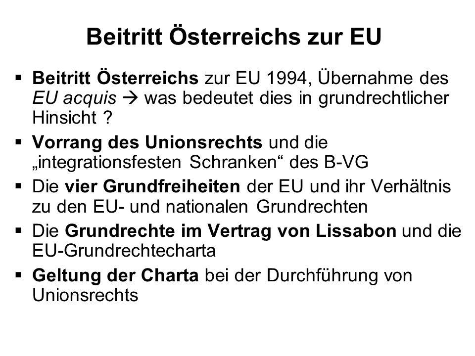 Beitritt Österreichs zur EU