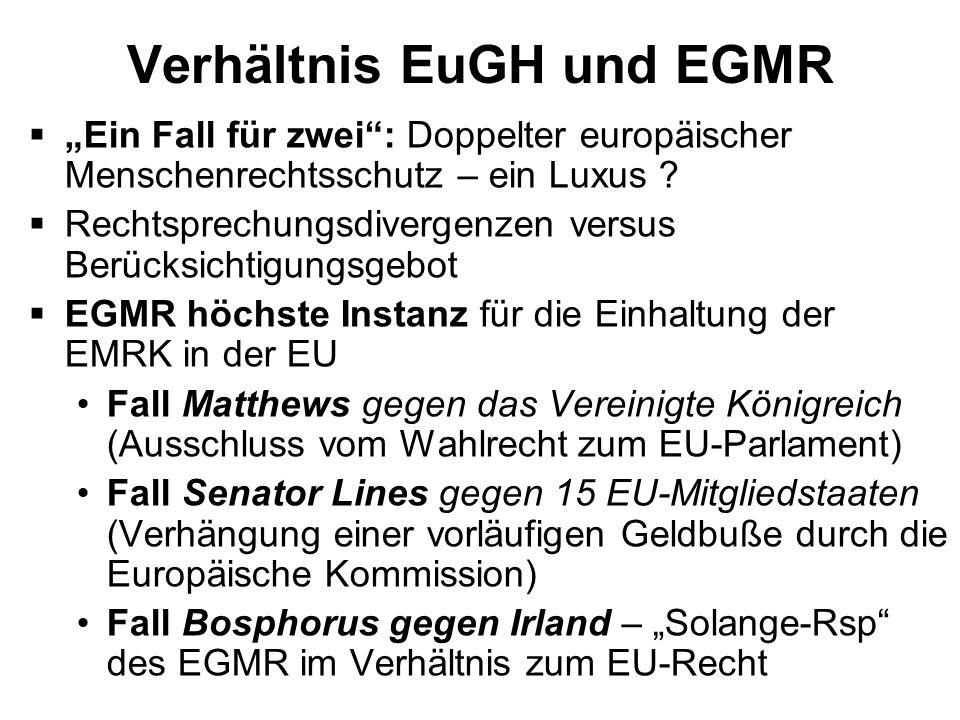 Verhältnis EuGH und EGMR