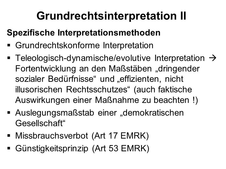 Grundrechtsinterpretation II