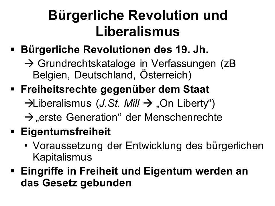 Bürgerliche Revolution und Liberalismus