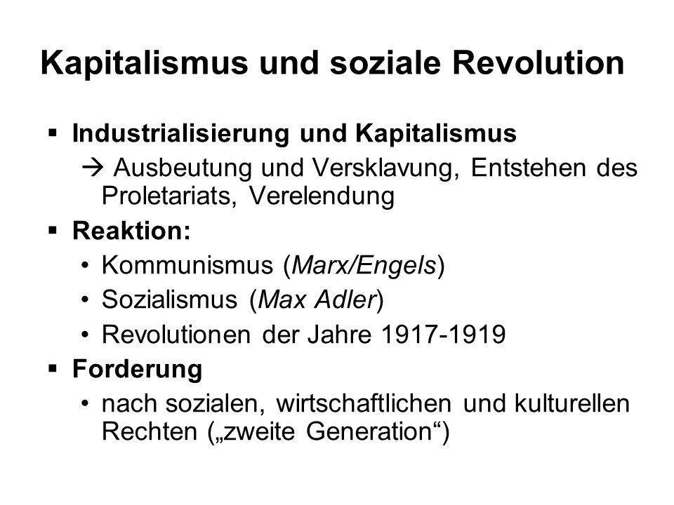 Kapitalismus und soziale Revolution
