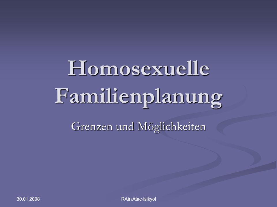 Homosexuelle Familienplanung