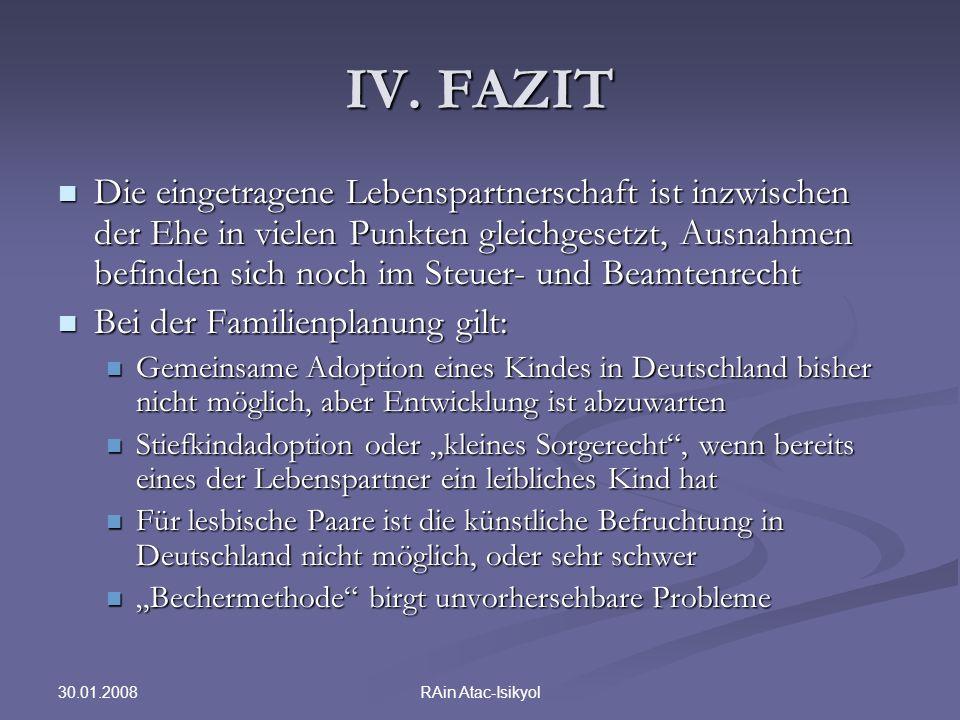 IV. FAZIT