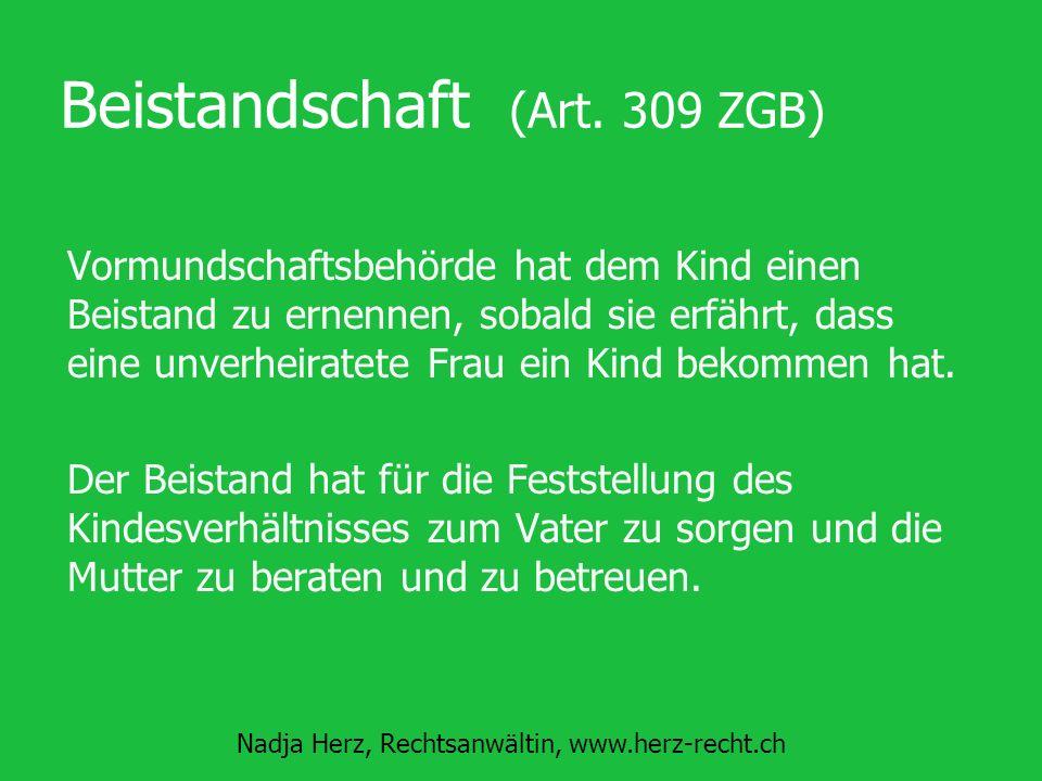 Beistandschaft (Art. 309 ZGB)