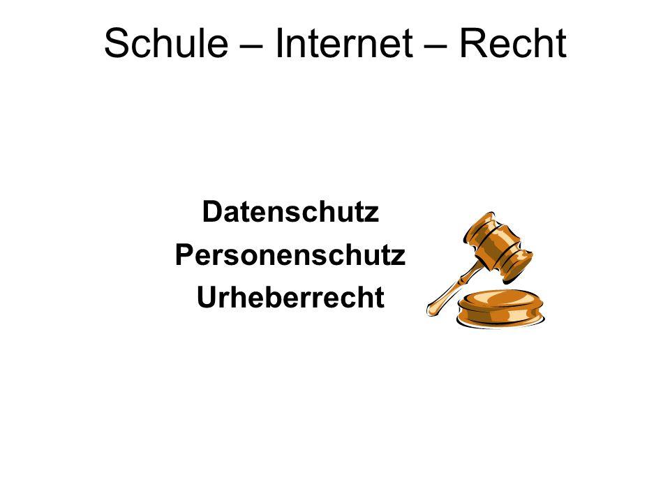 Datenschutz Personenschutz Urheberrecht