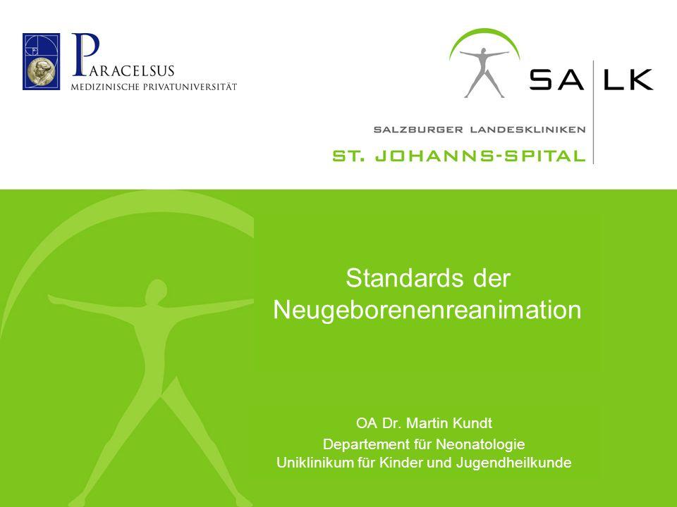 Standards der Neugeborenenreanimation