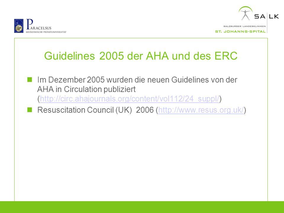 Guidelines 2005 der AHA und des ERC