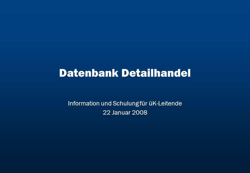 Datenbank Detailhandel