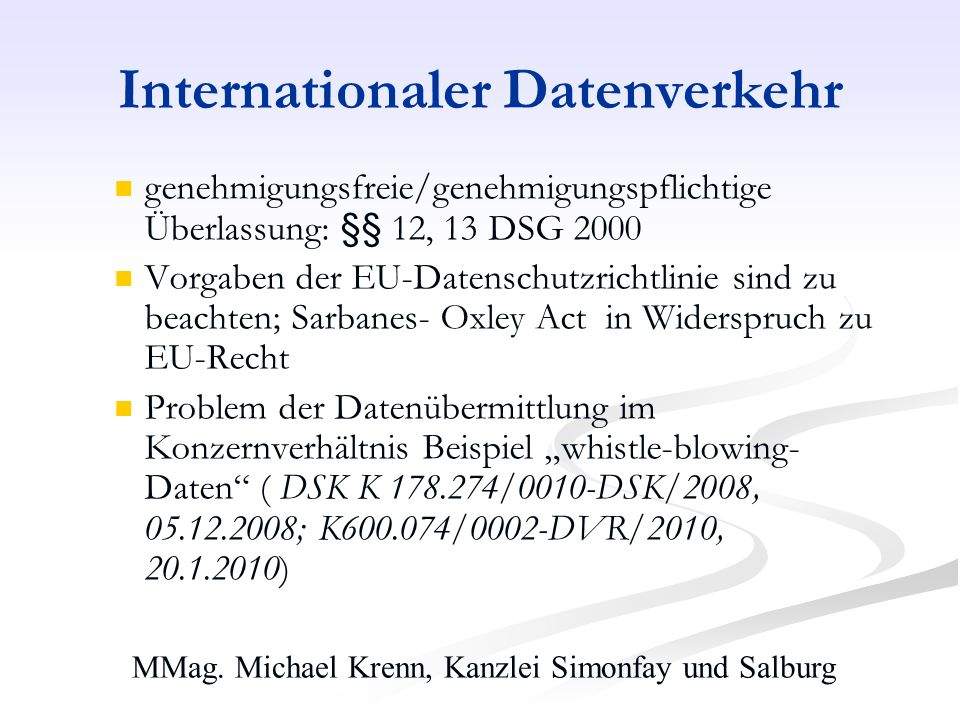 Internationaler Datenverkehr