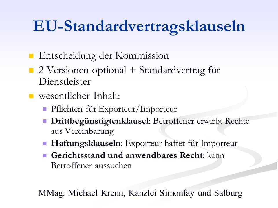 EU-Standardvertragsklauseln