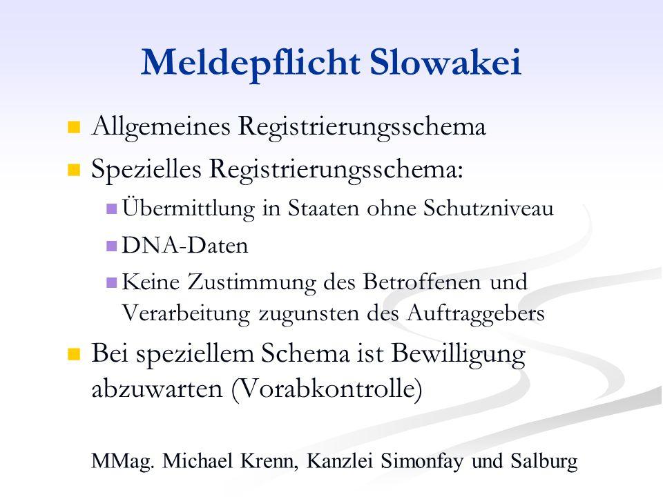 Meldepflicht Slowakei