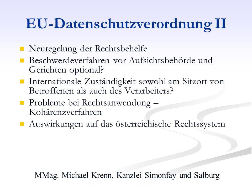 EU-Datenschutzverordnung II