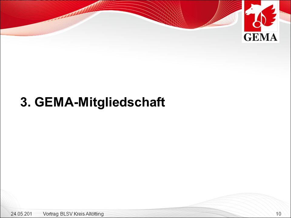 3. GEMA-Mitgliedschaft