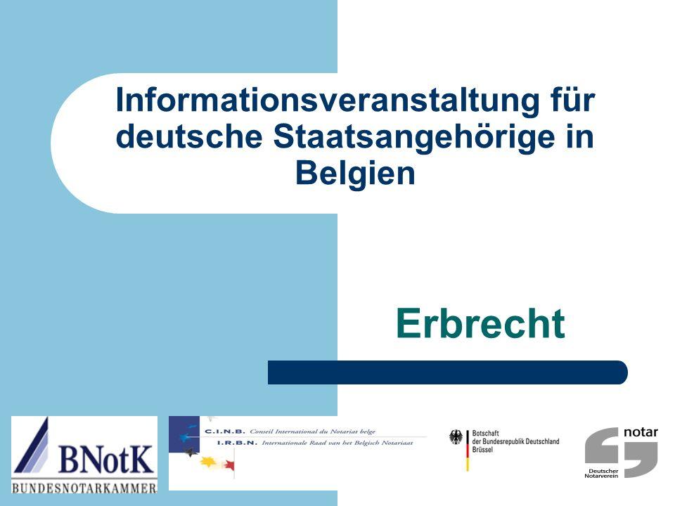 Informationsveranstaltung für deutsche Staatsangehörige in Belgien