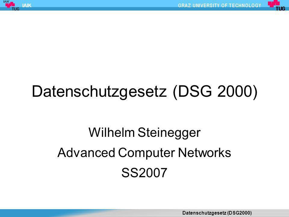 Datenschutzgesetz (DSG 2000)