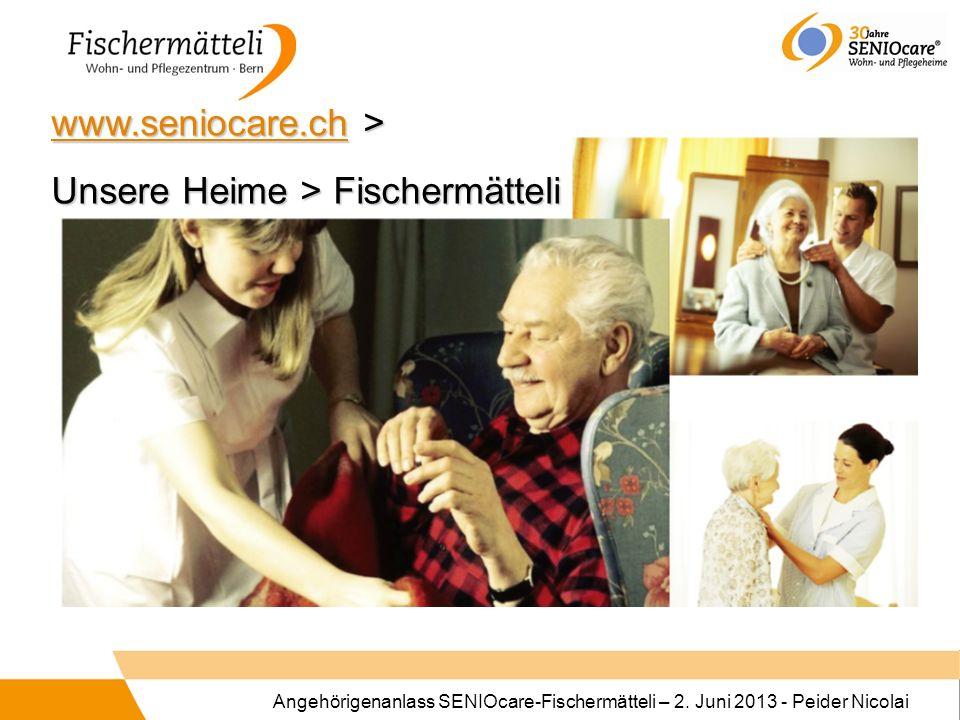 www.seniocare.ch > Unsere Heime > Fischermätteli