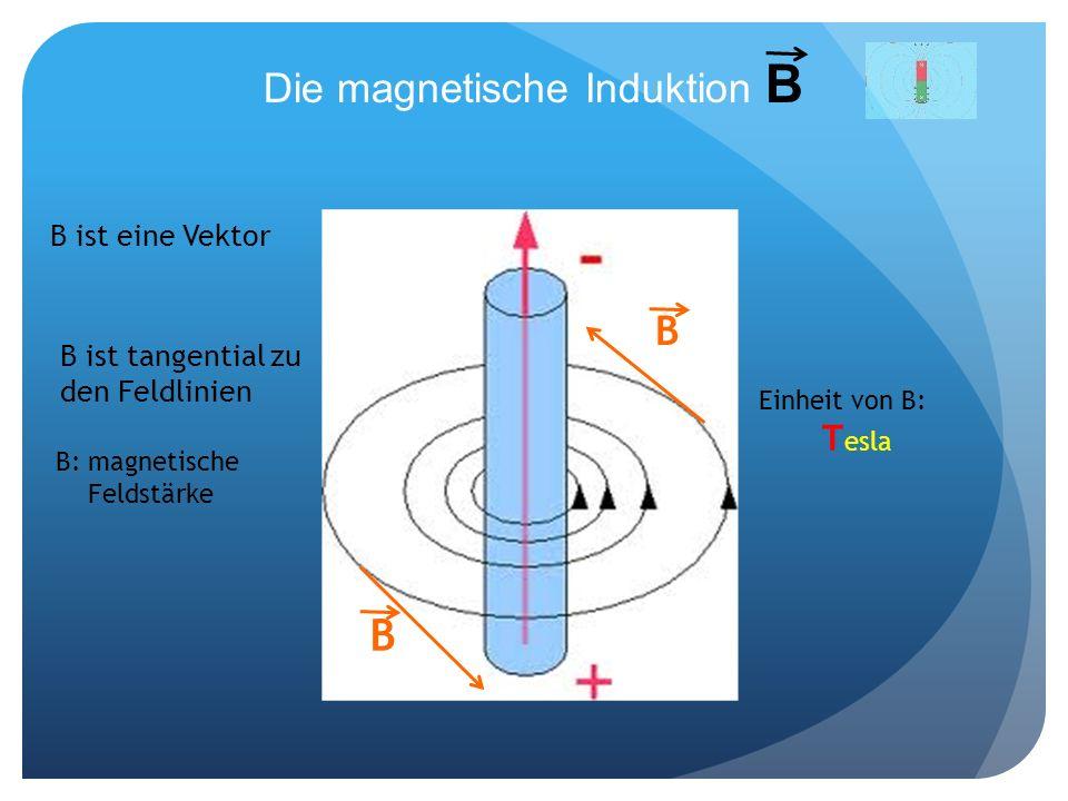 Die magnetische Induktion B