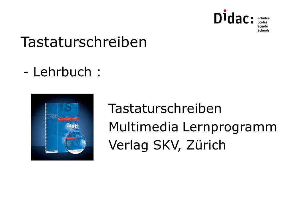 Tastaturschreiben Lehrbuch : Tastaturschreiben Multimedia Lernprogramm