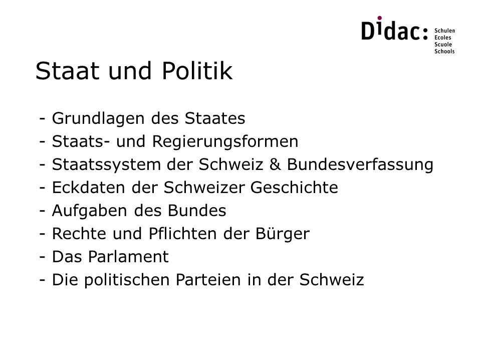Staat und Politik Grundlagen des Staates Staats- und Regierungsformen