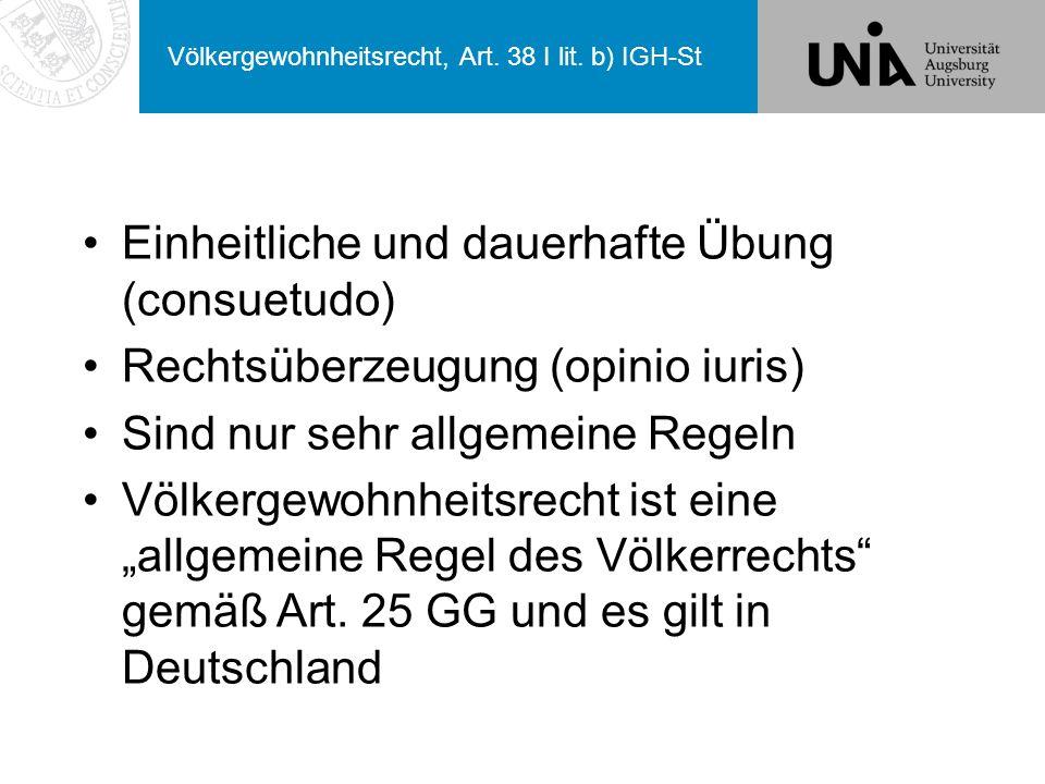 Völkergewohnheitsrecht, Art. 38 I lit. b) IGH-St