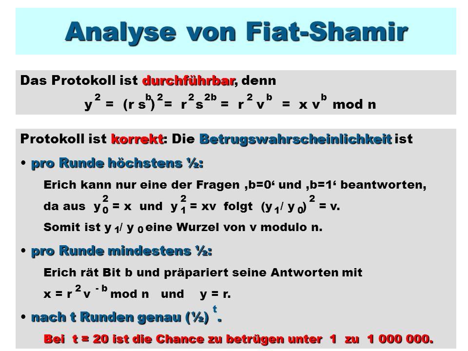 Analyse von Fiat-Shamir