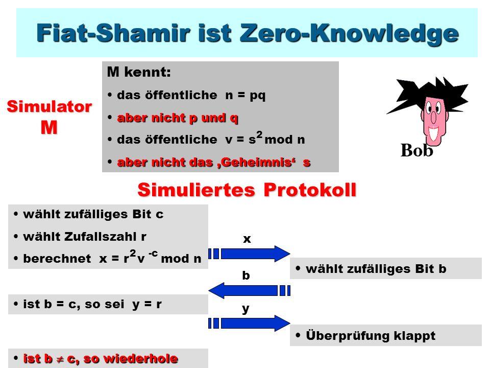 Fiat-Shamir ist Zero-Knowledge