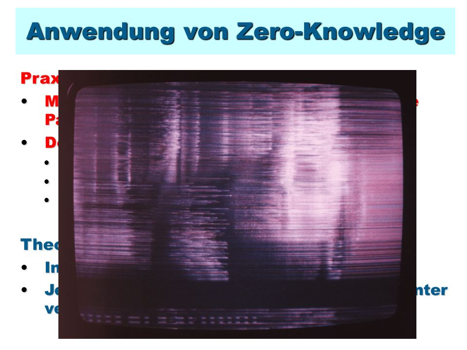 Anwendung von Zero-Knowledge