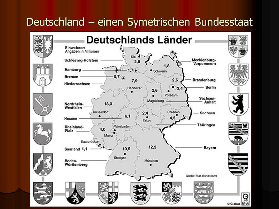 Deutschland – einen Symetrischen Bundesstaat