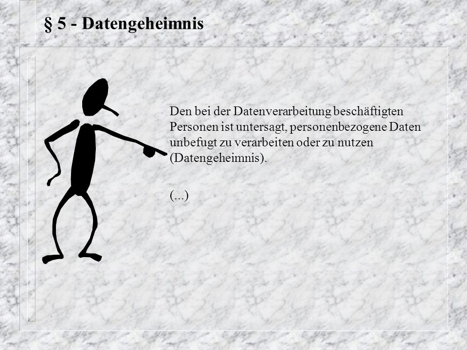 § 5 - Datengeheimnis