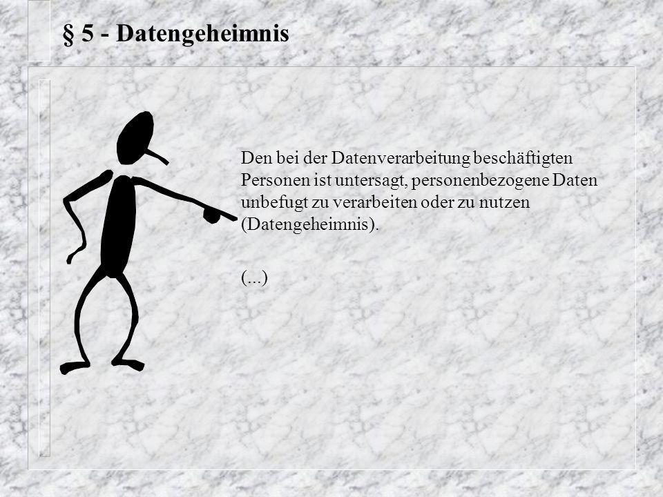 § 5 - Datengeheimnis