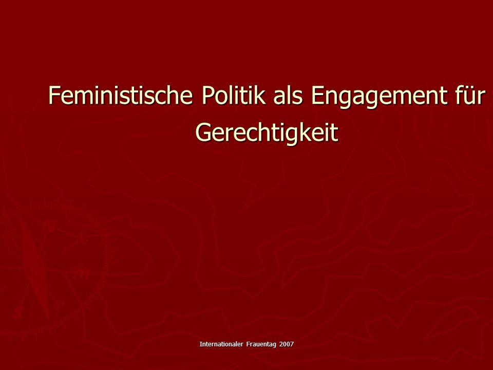 Feministische Politik als Engagement für Gerechtigkeit